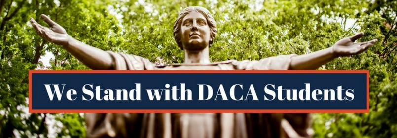 We Stand With DACA Students banner image
