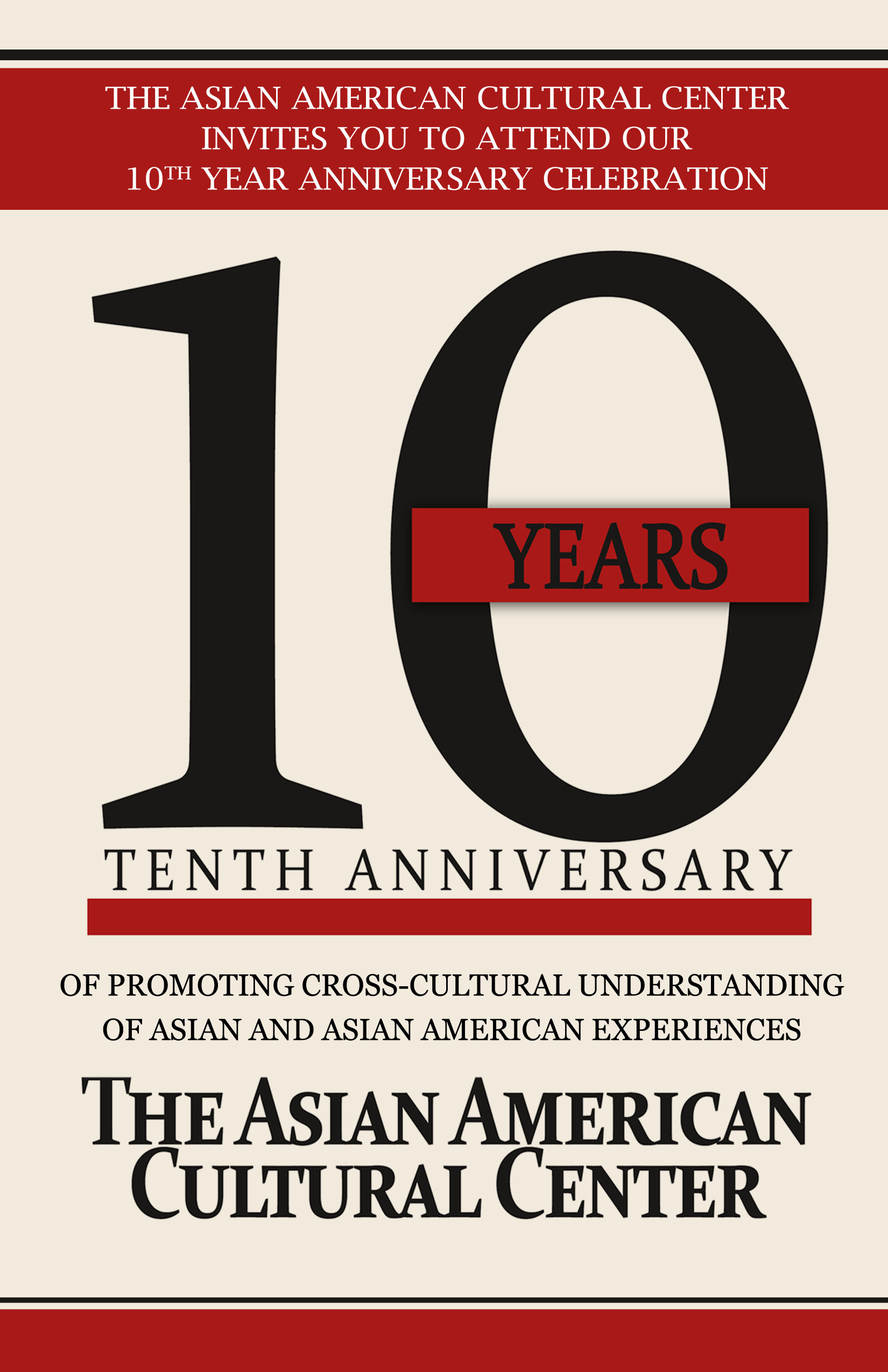 10th Anniversary Celebration Asian American Cultural