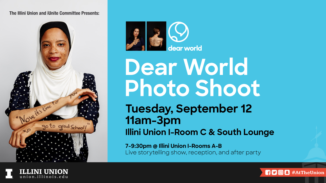Dear World Photo Shoot Flyer