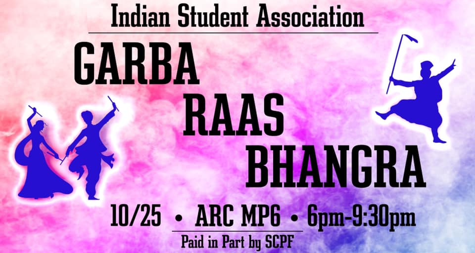 ISA Garba Raas Bhangra 2019 ARC MPR6 6 pm to 9:30 pm