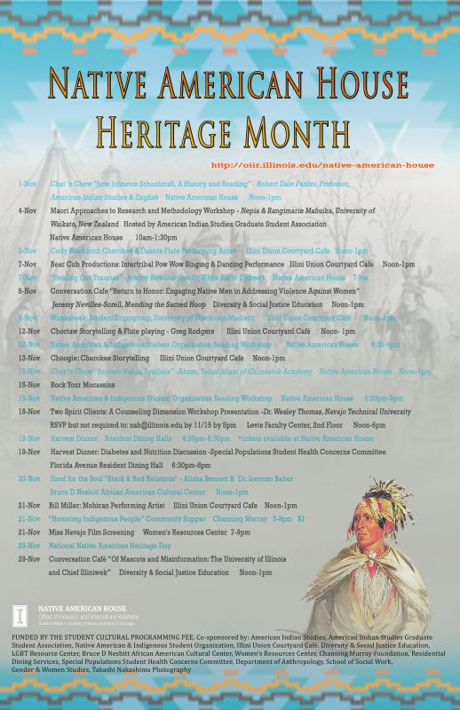 2013 Heritage Month Events   Native American House, University of ...