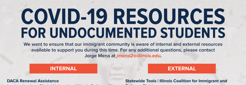 Flyer for COVID-19 Resources for undocumented students