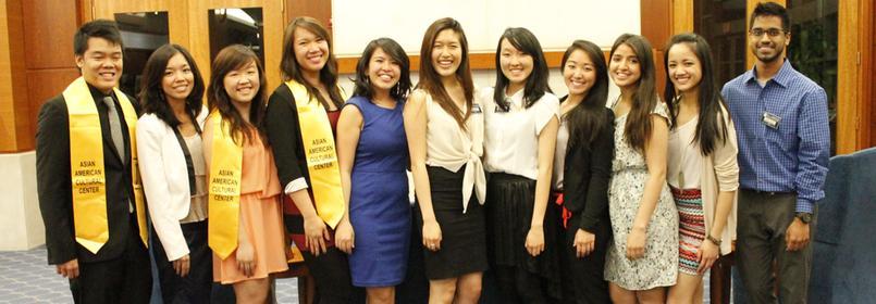 Picture of several students in graduation regalia